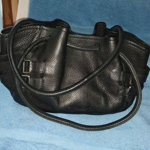 Cole Haan pebble leather shoulder hobo bag.